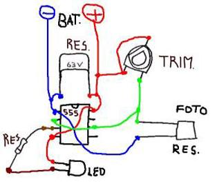 Luce lunare automatica a batteria